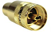Seachoice 50-19861 PL259 UHF for Rg 8 Gold Plate