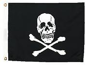 Seachoice 78251 Jolly Roger Flag 12X18