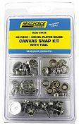 Seachoice KP7260SC Kit 49 PC Canvas Snap with Tool