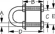 "Seadog 0800351 Bow Eye - Stainless Steel 3/8"" x 4-15/16"""