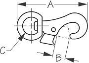 "Seadog 148333 Bull Nose Snap - Chrome Zinc - 4-1/8"""