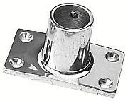 """Seadog 2819011 Rectangular Rail Base - Stainless Steel 1"""" - 90"""