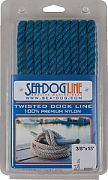 """Seadog 301110015BL-1 Twisted Nylon Dl 3/8""""X15´ Blue"""
