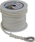 "Seadog 301110060WH-1 Anchor Line Wh 3/8""X60´ 1/PK"