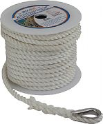 "Seadog 301110150WH-1 Anchor Line Wh 3/8""X150´ 1/PK"