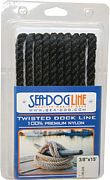 "Seadog 301112020BK-1 Twisted Nylon Dl 1/2""X20´ Blk"