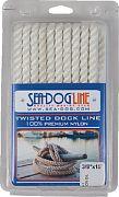"Seadog 301112025WH-1 Dock Line Tws Wh 1/2""X25´ 1/PK"