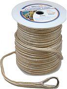 """Seadog 302112200G/W-1 Anchor Line Dbl Gold 1/2""""X200´"""