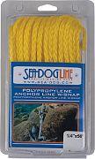 Seadog 304210100YW-1 Poly Anc Line Snap 3/8X100 Yel