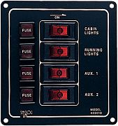 Seadog 4220101 4 Way Aluminum Switch Panel