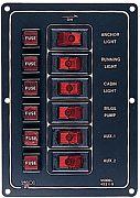 Seadog 4221101 6 Way Aluminum Switch Panel