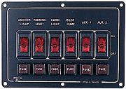 Seadog 4222101 6 Way Aluminum Switch Panel
