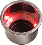 Seadog 588071-1 Red LED Drink Holder with Drain