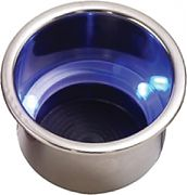 Seadog 588074-1 Blue LED Drink Holder with Drain