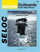 Seloc 1308 Johnson/Evinrude Outboard Engines Shop Manual 1973-91