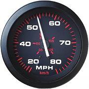 Sierra 57899P Amega 3´´ Speedometer Kit, 80 mph, Includes G Sender