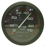 "Sierra 58935P Amega 3"" Tachometer 0-7000RPM Brp System Check"