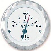 """Sierra 59653P Lido 2"""" Lido Fog Resistant Oil Pressure Gauge"""