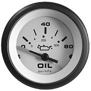 Sierra 59705P Sahara 2´´ Oil Pressure, Electrical, 0-80 psi, Requires C Sender