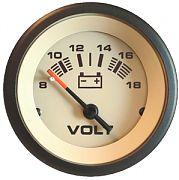 Sierra 59708P Sahara 2´´ Voltmeter, 8-18 V