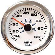 "Sierra 62546P Premier Pro Series White 3"" Speedometer Kit 65 Mph"