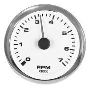 "Sierra 62561P Premier Pro Series White 3"" Electric Tachometer 0-7000RPM"