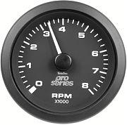 Sierra 62725P Premier Pro Series Black 3´´ Tachometer, O/B & 4-stroke Gas 8000RPM