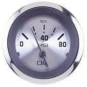 Sierra 63479P Sterling 2´´ Oil Pressure, Electrical, 0-80 psi, Requires C Sender
