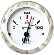 """Sierra 65498P Lido 2"""" Oil Pressure Gauge - 100 Psi"""
