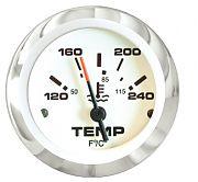 """Sierra 65509P Lido 2"""" Water Temperature Gauge"""