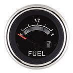 """Sierra 67021P Black Sterling 2"""" Fuel Gauge"""