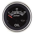 """Sierra 67022P Black Sterling 2"""" Oil Pressure (Electric)"""