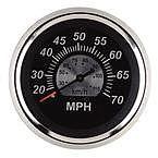 """Sierra 67285P Black Sterling 3"""" Speedometer"""