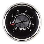 "Sierra 67363P Black Sterling 3"" Tachometer: O/B & 4 Cycle Gas"