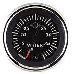 "Sierra 67382P Black Sterling 2"" O/B Water Pressure"