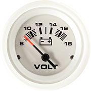 """Sierra 68383P Arctic 2"""" Voltmeter - 12V"""