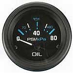 "Sierra 68392P Eclipse 2"" Engine Oil Pressure 0-80 Psi"