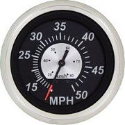 "Sierra 68960PH 3"" Black Sterling Series Speedometer"