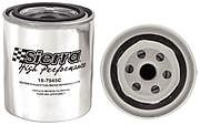 Sierra 7945C Fuel Water Separater Filter (Chrome)