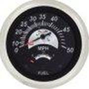 """Sierra 96073FP Sterling 69073FP 3"""" Black Sterling Speedometer & Fuel Gauge"""