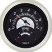 """Sierra 96074FP Sterling 69074FP 3"""" Black Sterling Tach-Volt Gauge"""