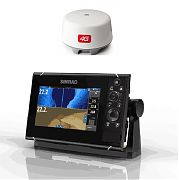 Simrad NSS7 EVO3 Radar Bundle with Insight Maps & 4G Dome