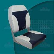 Springfield 1040661 High Back Fold Down Seat - Gray/Blue