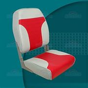 Springfield 1040665 High Back Fold Down Seat - Gray/Red