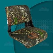 Springfield 1061020 Skipper Deluxe Molded Fold Down Seat - Seat With Cushions, Mossy Oak Breakup