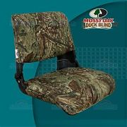 Springfield 1061021 Skipper Deluxe Molded Fold Down Seat - Seat With Cushions, Mossy Oak Duck Blind