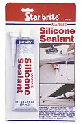 Star Brite 82102 Clear Silicone Sealant 2.8oz Tube