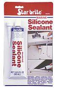 Star Brite 82102 Clear Silicone Sealant 2.8oz Tube