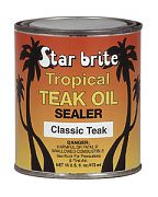 Star Brite 88016 Tropical Teak Oil-Sealer Classic 16oz