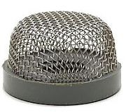 "T&H Marine AS2DP Aerator Screen/Strainer For 3/4"" Thru Hull Fittings - Gray Base"